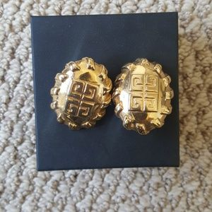 Vintage Givenchy gold earrings